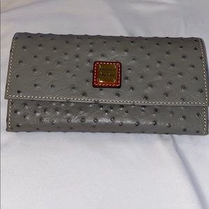 NWT Dooney & Bourke Ostrich Leather Wallet